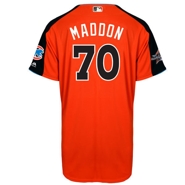 MLB Mens National League Joe Maddon Orange 2017 MLB All-Star Game Home Run Derby Player Jersey