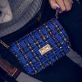 Мода холст небольшой лоскут сумки цветочные сумки известная марка женщины сумка почтальона сумочки дамы партия кошелек женщины сцепления crossbody сумки