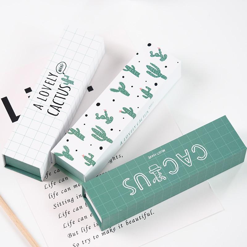 195*50*35mm Creative Design Paper Pencil Bag Case Schools Offices Stationery Students Pencil Case Zipper Large Capacity PL