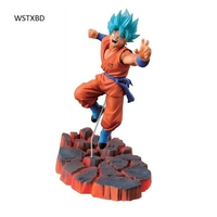 WSTXBD Original Dragon Ball Z Sculture 5 SC God Blue Goku PVC Figure Toys Figurals Dolls