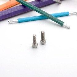 TonKing Titanium Screws GR5/TC4 Fastener Metric Titanium M4-6 Cone head hexagon bolt 1 pcs
