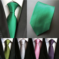 Gravata de seda 8 cm Verde Sólida Gravata gravata de seda azul sólida