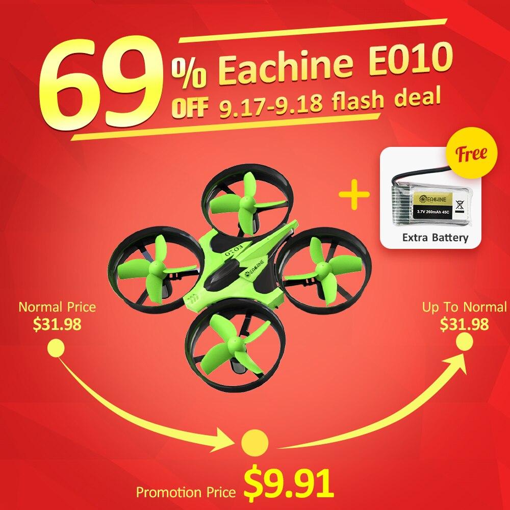 Nouvelle Arrivée Eachine E010 Mini 2.4g 4CH 6 Axe 3D Sans Tête Mode Mémoire Fonction RC Quadcopter RTF RC Minuscule cadeau Présent Enfant Jouets