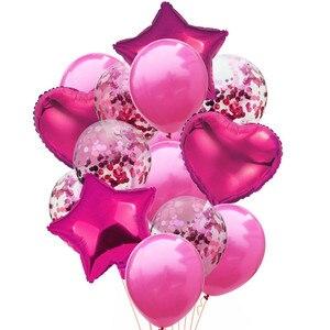 Image 2 - 14 pcs 12 inch 라텍스 18 inch 멀티 에어 풍선 생일 축하 헬륨 풍선 장식 웨딩 페스티벌 balon 파티 용품