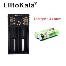 цена на LiitoKala lii-202 USB 26650 18650 AAA AA Smart Charger + 2pcs NCR18650B 3.7V 18650 3400mAh Li-ion Rechargeable Battery (NO PCB)