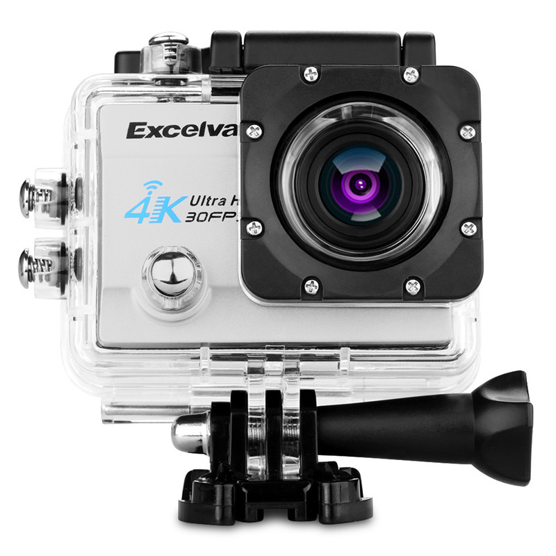 Action Camera 4K Accessories Case Excelvan Q8 Action Camera Battery 4K 30FPS 16MP H.264 30m Waterproof 170 Lens Support WiFi f88 action camera black