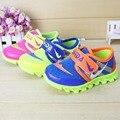 Niños y Niñas KD Zapatos Primavera Otoño Nueva Hook & Loop Niños de Malla transpirable Zapatos Ocasionales de Los Deportes Para Niños de Alta Calidad de 3 Colores