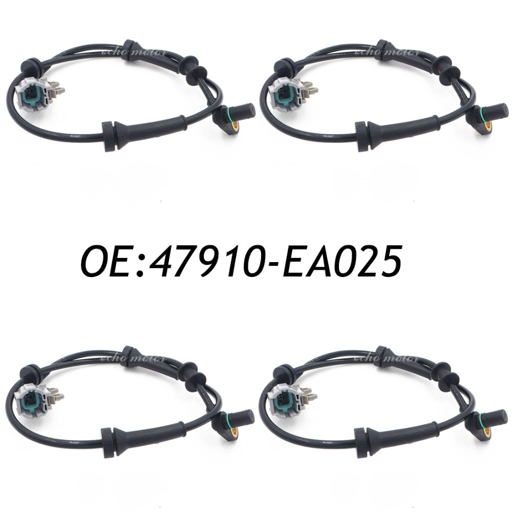 New 4pcs 47910-EA025 Front Left / Right ABS Speed Sensor For Nissan Frontier Pathfinder Xterra free shipping oe 8971323071 abs good quality front right sensor wheel speed for isuzu