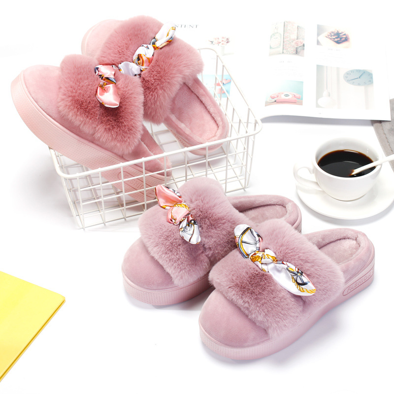 SC3133 New season high with cotton slippers home half a pack of fashion warm large base sponge slippersSC3133 New season high with cotton slippers home half a pack of fashion warm large base sponge slippers