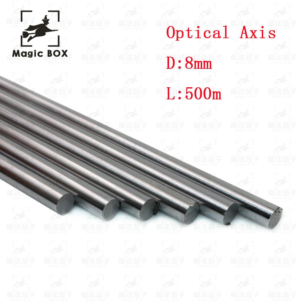 4pcs/lot Optical Axis OD 8mm x 500mm Cylinder Liner Rail Linear Shaft chrome For 3D Printer parts & CNC 2pcs lot 8mm 8x450 linear shaft 450mm 3d printer 8mm x 450mm cylinder liner rail linear shaft axis cnc parts