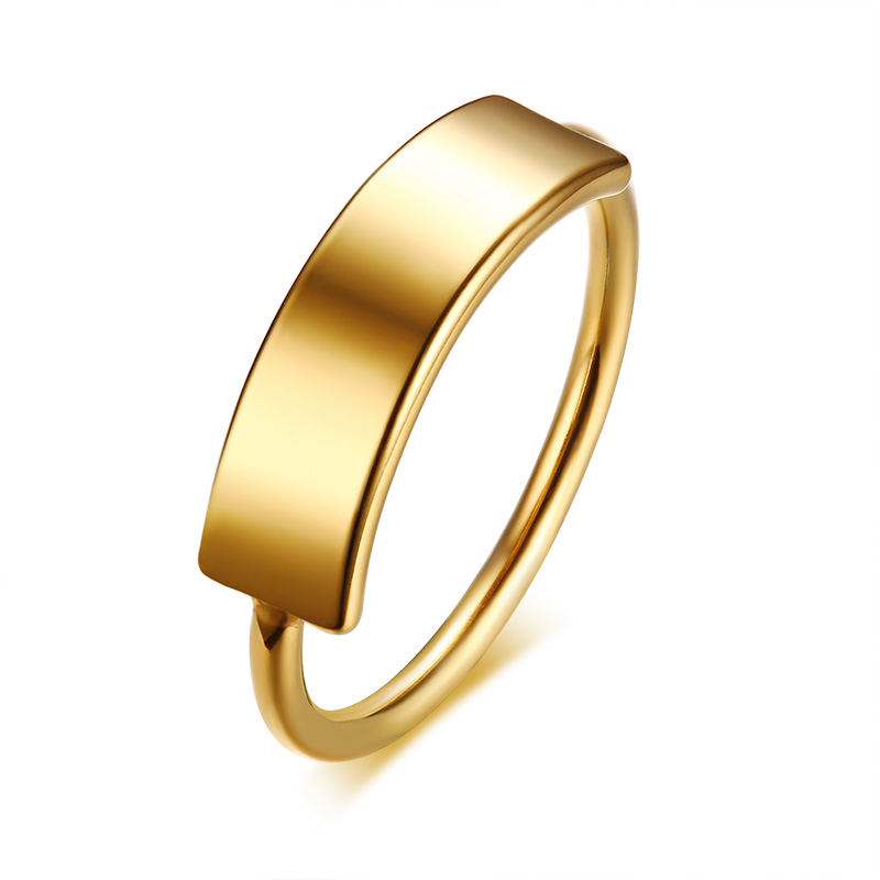 2018 New Female Fashion Gold Color Ring High Quality 316L St