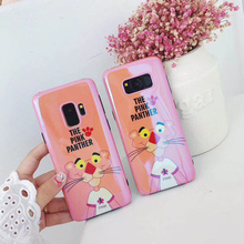 Phone Case For Samsung S9 S10 Plus S10e Note 8 9 Blue light Pink Panther soft cover for Galaxy S8 S8plus back fundas