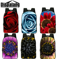 Dispalang Blue Rose Print Schoolbags For Teens Girls Women S Fashion Travel Backpacks Large Laptop Backpack