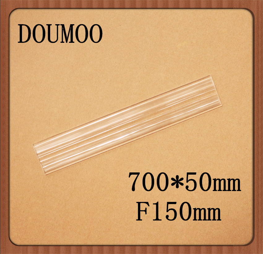 Free shipping by DHL 700*50 mm F150 mm linear Plastic fresnel lens for solar energy small focal length 150mm linear fresnel lens doumoo 330 330 mm long focal length 2000 mm fresnel lens for solar energy collection plastic optical fresnel lens pmma material