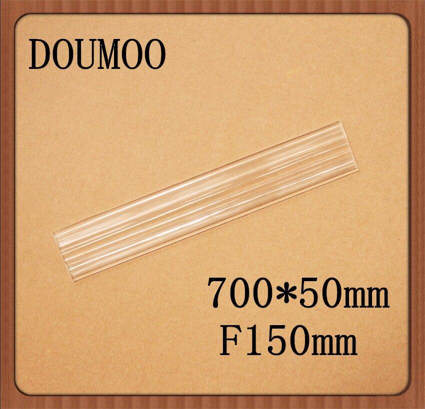 Livraison gratuite par DHL 700*50mm F150 mm lentille de fresnel en plastique linéaire pour l'énergie solaire petite focale 150mm lentille de fresnel linéaire
