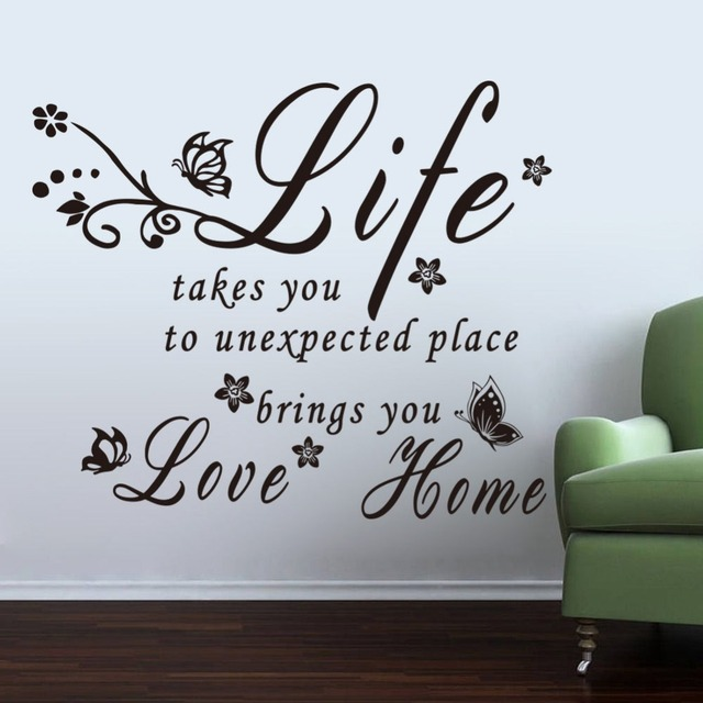 Removable decals mobile home letter life brings you love vinyl removable decals mobile home letter life brings you love vinyl wallpaper home living room decorative art altavistaventures Image collections