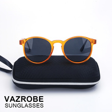 VAZROBE Polarized Men's Sunglasses 2017 Women Retro Round Driving Polarizing Sun Glasses for Male Vintage goggles quality