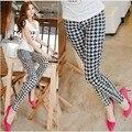 2016 женская мода лето черно-белая печать случайные леггинсы фитнес брюки Танцы Брюки Эластичные дешевые одежда китай