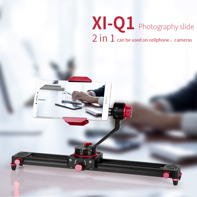 XILETU XI-Q1 13,7 inch Tabletop Mini Kamera/Smartphone Video Track dolly Slider Schiene System Für Arca Swiss Digitalkamera telefon