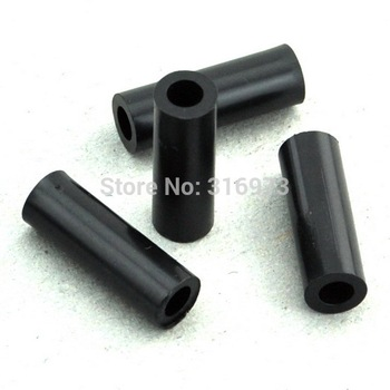 (1000 pcs/lot ) 21mm Black Nylon Round Spacer, OD 7mm, ID 4.1mm, for M4 Screws, Plastic.