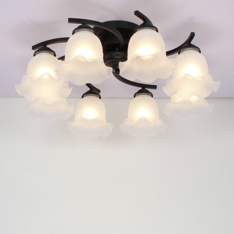 ceiling light room iron simple atmosphere of modern garden bedroom ceiling decorated with Mediterr ZX189 lamps european and american living room chandelier iron simple atmosphere of modern garden bedroom ceiling decorated with medite