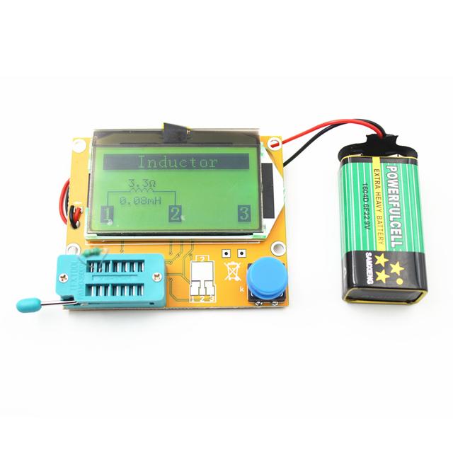 Tester Diode Triode Capacitance MOS/PNP/NPN /LCR TESTER METERDigital ESR Meter Mega328 Transistor