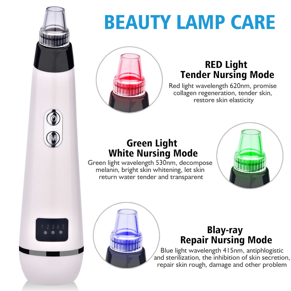 Pore Cleaner Nose Blackhead Remover Face Deep T Zone Acne Pimple Removal Vacuum Suction Facial Diamond