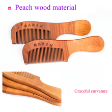 Head Scalp Wood Comb Massager Hair Brush Peach Wood Combs St