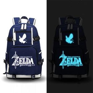 Image 3 - The Legend of Zelda: Breath of the Wild Zelda Game Backpack Canvas School Bags Travel Bagpack Laptop Backpack Zelda Bookbag