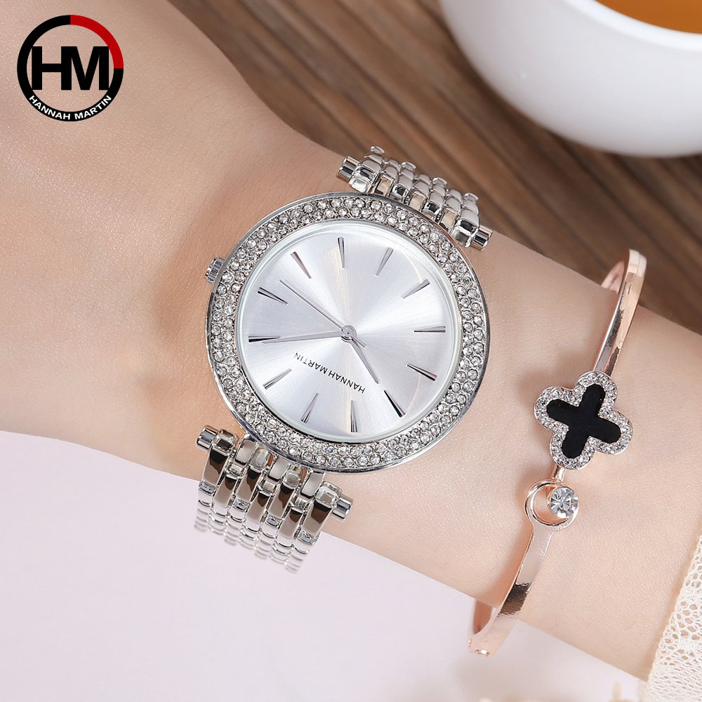 Image 5 - Women Top Brand Luxury Quartz Movement Watches Fashion Business Stainless Steel Diamond Dial Waterproof Ladies Wristwatches-in Women's Watches from Watches