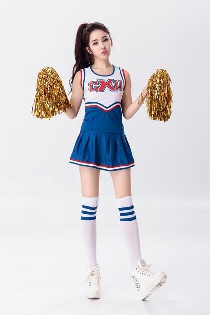 Cosplay Sexy High School Cheerleader Costume Cheer Girls -5606