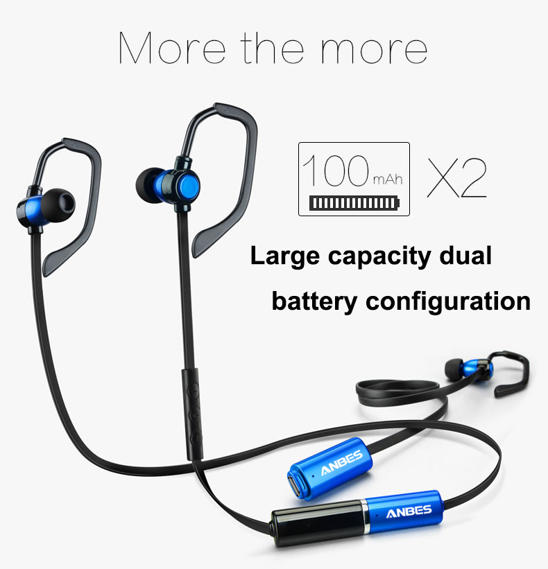 Batería de Repuesto ANBES Auriculares Inalámbricos Bluetooth 4.1 Auriculares de Música Estéreo de Auriculares para el iphone Samsung LG Teléfonos Inteligentes