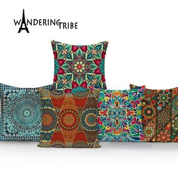 Geometric cover cushion colorful home decor cushions Custom linen cushion covers morocco decorative cushions pillow covers knitted cushions