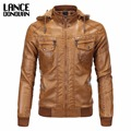 Plus velvet  Suede Yellow Motorcycle Leather Faux Leather Jacket Men Autumn Winter Clothing Asian Size 2XL-5XL
