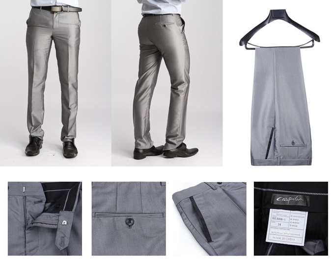 Aliexpress.com : Buy 2015 New Arrival Brand Silver Suit Pants Men ...