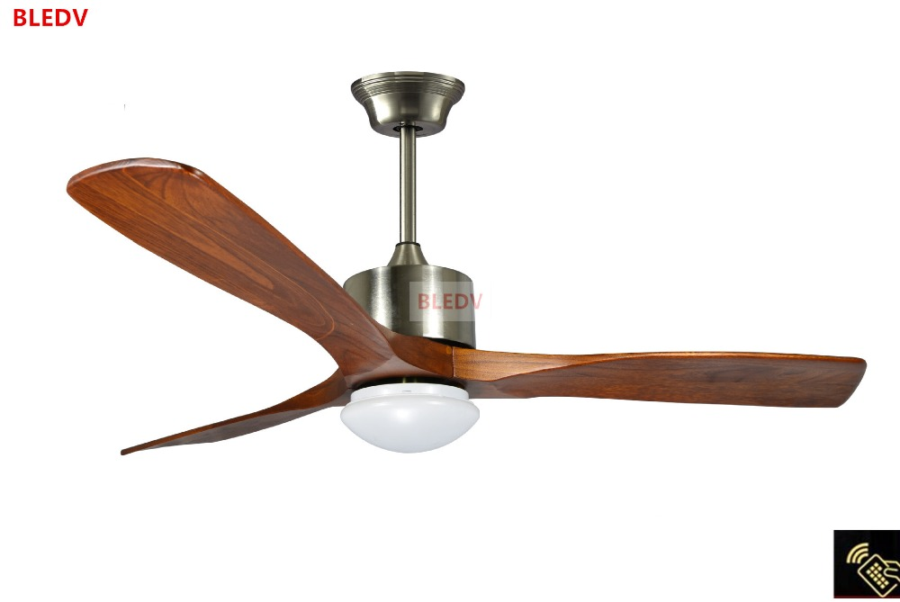 52 Inch Village Wooden Ceiling Fan With