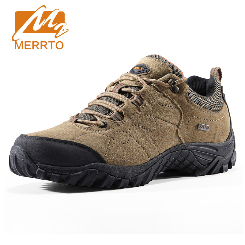 MERRTO Big Size Men's Hiking Shoes Male Outdoor Anti-skid Breathable Trekking Shoes Hunting Tourism Mountain Sneakers Men baideng new men outdoor hiking shoes breathable trekking hike shoes anti skid hunting mountain shoes men sport shoes size 40 46
