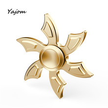 Hand spinner Fidget Spinner Triangle Single Finger Decompression Gyro Hand Spinner Fingertip Gyro Metal Toys High Quality May 22
