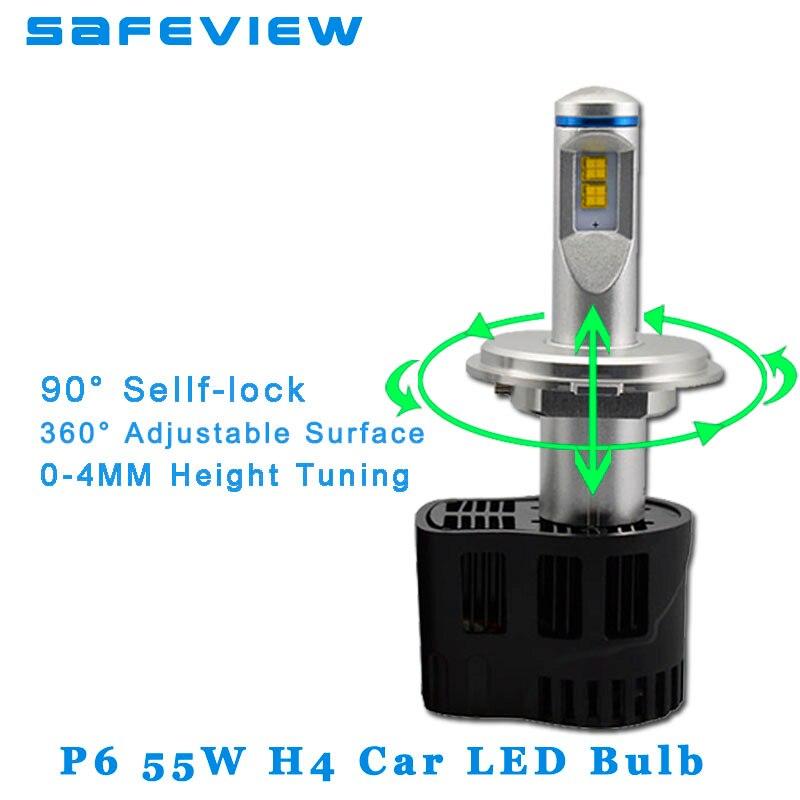 Safeview Высокое качество H4 H7 Led H11 H8 H9 Автомобильные фары лампы 55 Вт 10400LM 6000 К Ремонт Заменить освещение для автомобилей лампы - 6