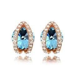 New arrival gift satellite crystal earring stud earring earrings full 6