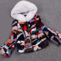 Big Hood Genuine Mink Fur Coat Zipper Fur Real Coat Women Winter Plus Size Winter Jacket sr548