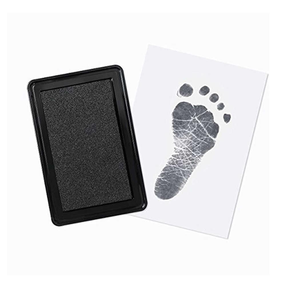 Отпечаток руки ребенка форма в виде отпечатка ноги коврик 100% нетоксичный безчернильный безопасный легко чистить новорожденный фото ручная печать ног коврик замечательный Keepsake