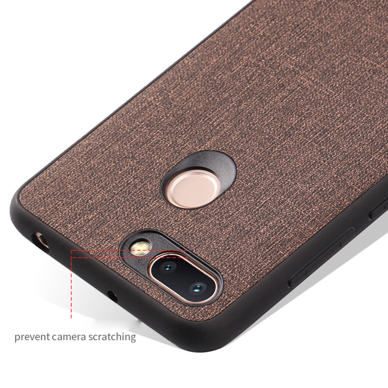 PHOPEER Silicone Case for XiaoMi Redmi 6A case cover Redmi 6A 6 A Soft TPU edge shockproof business fabric back cover in Fitted Cases from Cellphones Telecommunications
