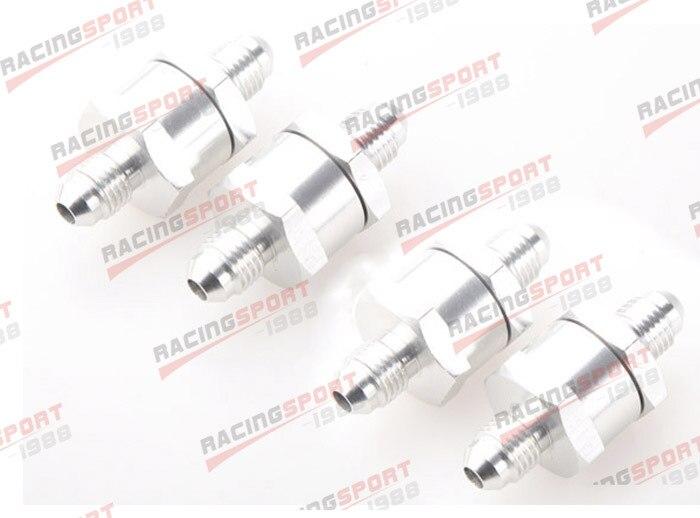 4 pièces 6AN Carburant Retour Un Clapet anti-Retour Essence Diesel D'alliage D'aluminium OWV-07-SILVER-4