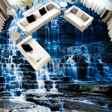 3D Floor  Mural Waterfall Landscape