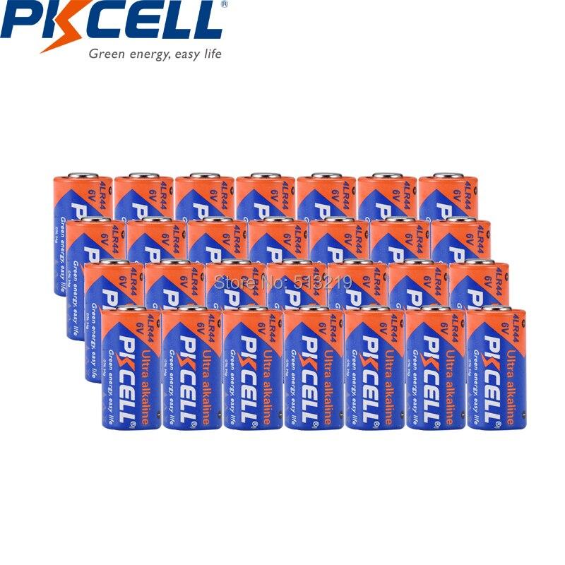 28pcs PKCELL <font><b>6v</b></font> <font><b>battery</b></font> Dry Alkaline <font><b>Batteries</b></font> 4LR44 <font><b>4A76</b></font> A544V 4034PX PX28A L1325 4AG13 544 for Dog Training Shock Collars