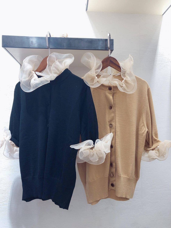 2019 nouveau dames mode à manches longues décontracté casual couture dentelle pull 0627
