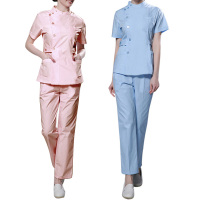 Best Selling Nurse Uniform Hospital Medical Scrub Clothes Set Short Sleeve Surgical Gown Medical Clothing Coat