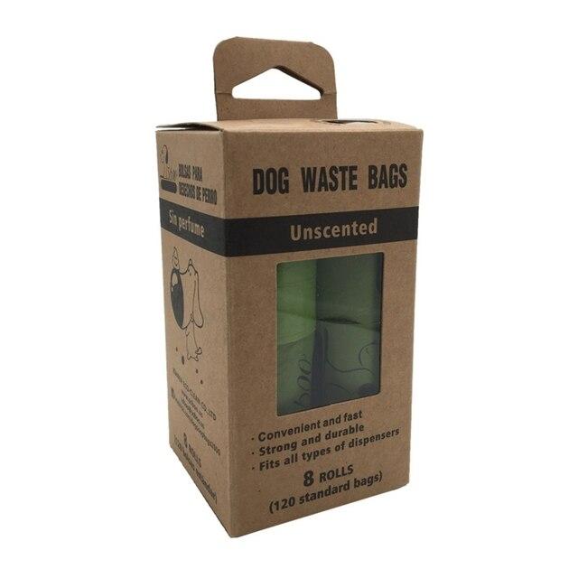 8rolls Port Dog Poop Bag Biodegradable Dog Pets Waste Garbage Bags Carrier Biodegradable Clean-up Bag Waste Pick Up Cleaning Bag 2