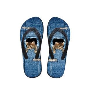 FORUDESIGNS/милые шлепанцы с рисунком кошки и собаки для женщин; милые домашние и пляжные шлепанцы; женские массажные тапочки из мягкой резины